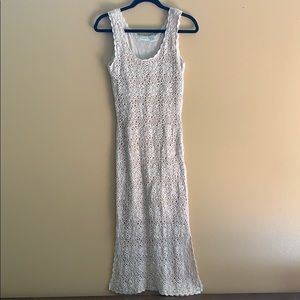 """Friends Style"" 90's Vintage crochet maxi dress"
